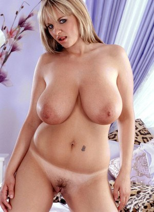 Dirty blonde MILF Kelly Kay plays with her huge saggy boobs in the nude