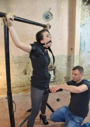BDSM sex lover Corazon gets gagged and tied up before getting screwed
