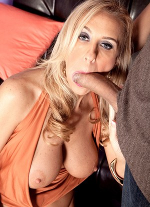 Blonde mature angel Cristy Lynn enjoys a big wang in her insatiable mouth