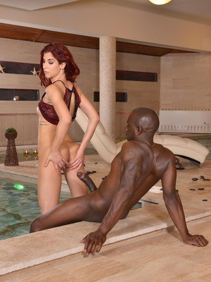 Redhead Shona River tries black monster in hot interracial scenes of hardcore