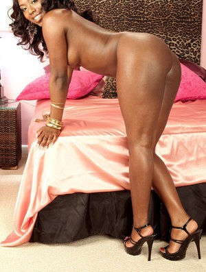 Ebony babe with a big chocolate ass Janea Jolie shows her glorious curves