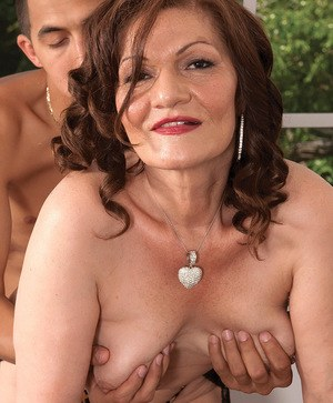 Playful BBW granny Dacia Logan enjoys having hot sex with a younger dude
