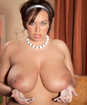 BBW maid in fancy nylon pantyhose Victoria Lane shows her astonishing curves