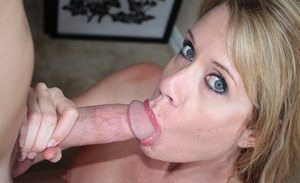 Amateur mom sucks cock and fucks hard while her son taping her