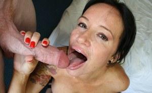 Mature with huge tits Angie Noir enjoys hard sex with younger bloke
