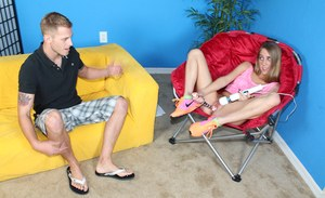 Top blnde Cadence Lux hardcpre sex to grant her sperm on her face and boobs