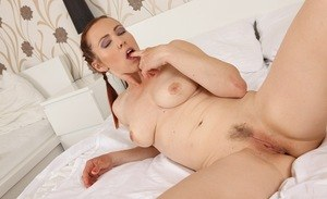 Mature with big ttis Violet Jones sensual display of pussy and ass