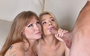 Darla Crane amazing cock sharing porn play with younger daughter in heats