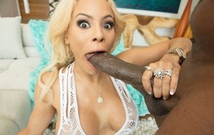 Busty blonde Luna Star goes wild over the thoughts of banging this BBC