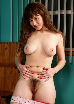 Mature woman with hairy cunt takes off panties to boast of her bushes and anal