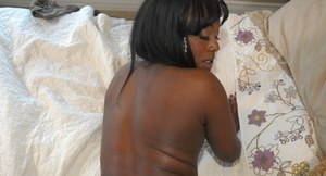 Black amateur slut blows a big pink cock and rides it getting ass creamed