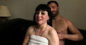 Middle aged amateur Sexy Cleo gets covered in cum after a being used as a slut