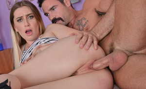 Horny chick Niki Snow seduces a married man with a no panty up skirt