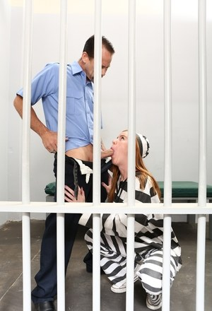 Female prisoner Kierra Wilde gets fucked and creampied by a jail guard