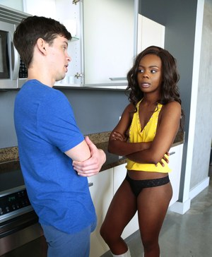 Sweet black chick Haylee Wynters makes her porn debut with a blowjob