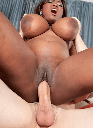 Black BBW Marie Leone works a big dick until her pussy is covered in sperm