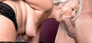 Chubby granny Jeannie Lou gets into pleasing a hooked cock