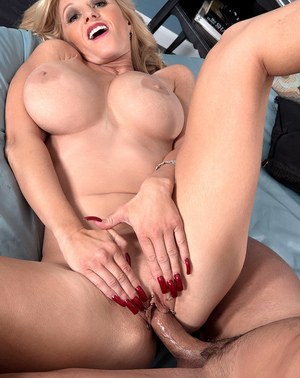 Hot older woman Holly Claus is willing to try anal sex with young lover