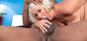 Leggy granny Jeannie Lou has always wanted to fuck a BBC and here's her chance