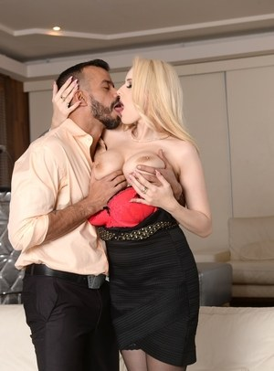 Hot blonde Angel Wicky does anal with a man on the first date