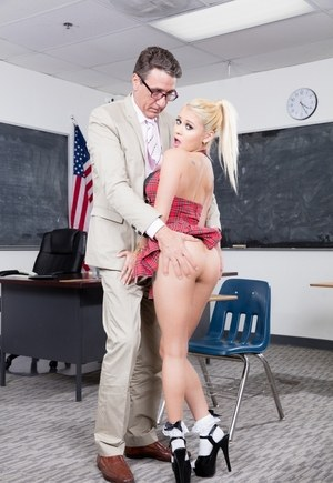 Young schoolgirl Marsha May gets ass fucked by her teacher