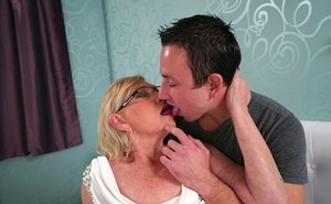 Overweight nan Irene and her boy toy fuck after an oral sex exchange happens