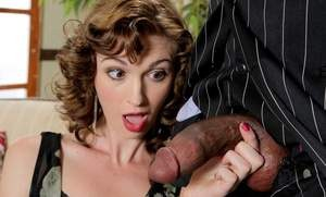 Pornstar Alana Rains devours and rides a BBC in a retro styled reenactment