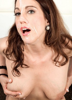Middle-aged female Stella Rose blows a younger boy after seducing him