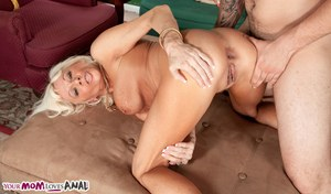 Mature lady Farrah Rose gets ass fucked by her son's best friend
