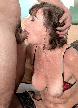 Hot older lady Sydni Lane lets the neighbor's boy fuck her in her tight ass