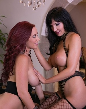 Hot females Diana Prince & Jayden Jaymes end up tribbing atop a pool table