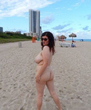 Chubby wife nude beach
