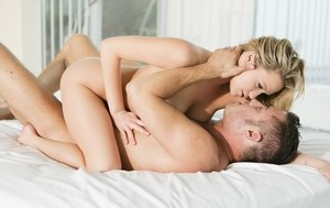 Blonde chick Mia Malkova and her lover fuck up a storm atop white sheets