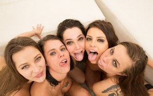 Double fucking and hard sex are what it's all about in this orgy