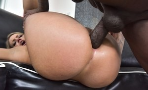 Blonde pornstar Candance Dare has a BBC shoved up her filthy asshole