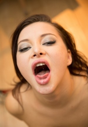 Tattooed chick Anna Polina swallows jizz after getting fucked in her ass