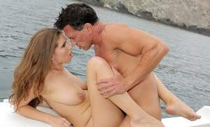 Busty chick Alex Chance gets fucked and jizzed on while out on the water