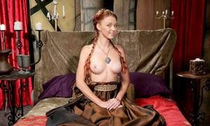Solo girl Marie McCray strips off her GOT inspired clothing