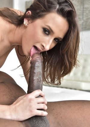 Nude pornstar Ashley Adams goes ass to mouth with a massive black dick
