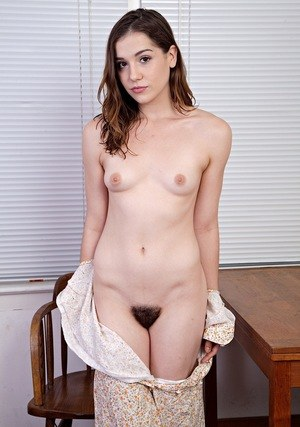 Teen solo girl flashes her beaver before exposing her hairy armpits too