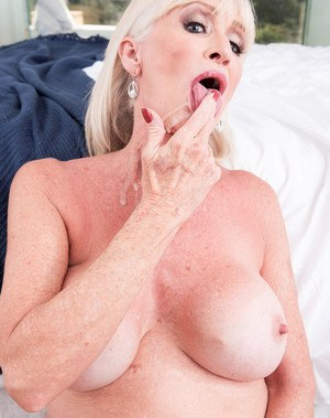Big titted granny Leah L'Amour gets banged by her boy toy