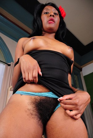 Black amateur remove her dress to best display her hairy vagina