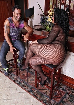 Obese Latina chick gets banged attired in a crotchless bodystocking