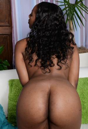 Black solo girl Chanell Heart removes her sexy lingerie to pose butt naked