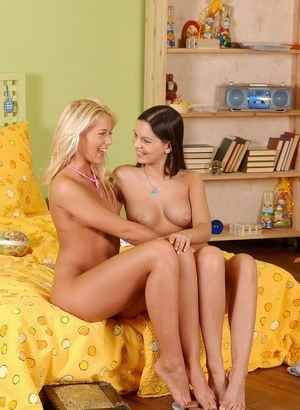 Leggy females play foot games while having lesbian relations with sex toys