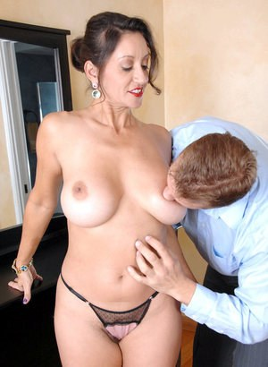 Older lady Persia Monir drips jizz from her twat after doggy style sex
