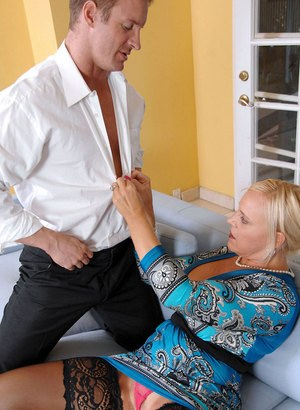 Older lady Alexis Golden fucks her daytime lover while hubby is at work