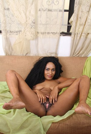 Latina first timer doffs her lingerie before stretching her pussy wide open