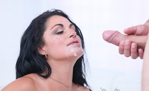 Thick Latina female Cristal Caraballo relieves a cock of it load of sperm