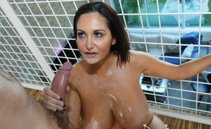 Big boobed chick Ava Addams gets fucked hard after a good lubiing